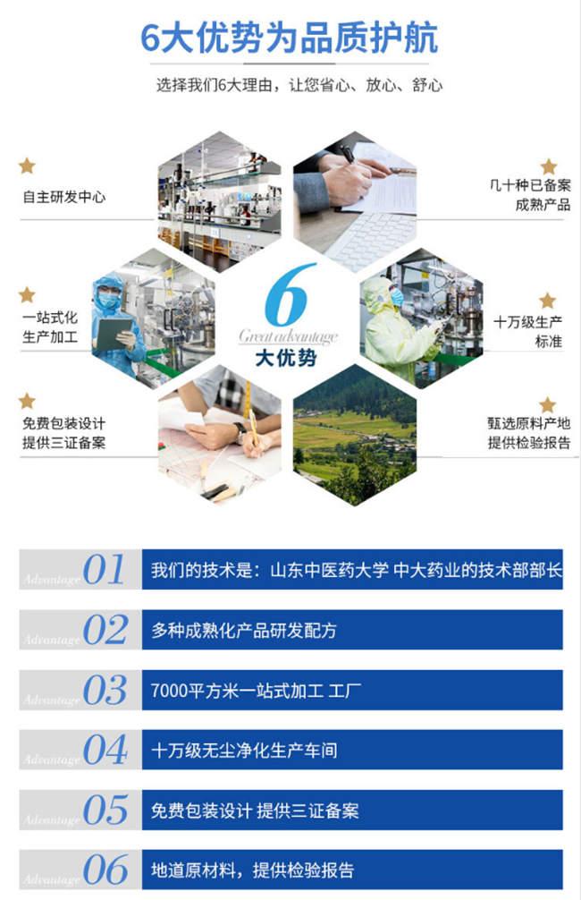 上海固体饮料代加工源头厂家-贴牌优势-德州健之源
